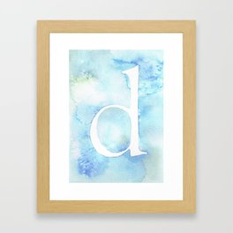d watercolor Framed Art Print
