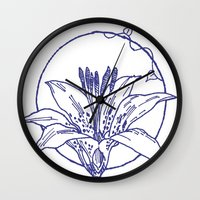 coasters Wall Clocks featuring Forest Lover's Wild Flower by KimberlyVautrin