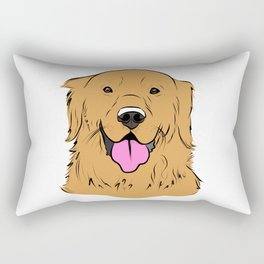 Smiling Golden  Rectangular Pillow