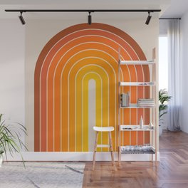 Gradient Arch - Vintage Orange Wall Mural