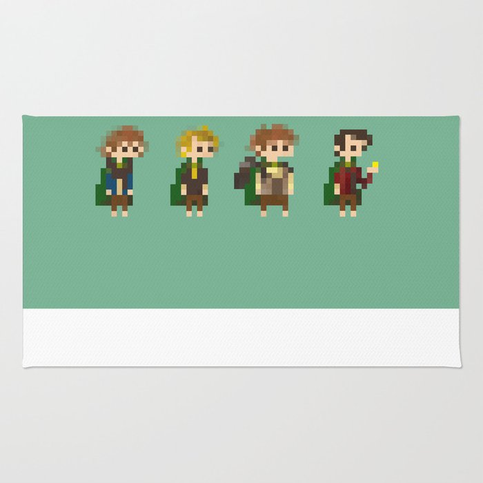 Frodo, Sam, Pippin and merry Rug