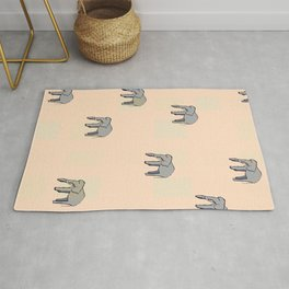 Elephants on Repeat Rug