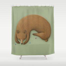Sleepy Bear Shower Curtain