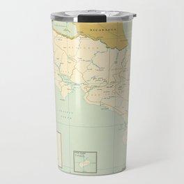 Map of Costa Rica (1963) Travel Mug