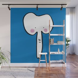 Baby Elephant in Blue Wall Mural