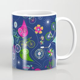 Cycledelic Blue Coffee Mug