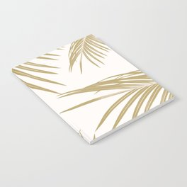 Gold Palm Leaves Dream #1 #tropical #decor #art #society6 Notebook