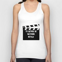 netflix Tank Tops featuring Netflix Killed Hollywood by Katie Gaughan