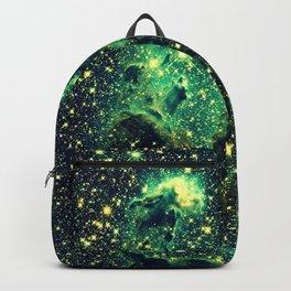 Galaxy NEBULa  : Pillars of Creation Green Backpack