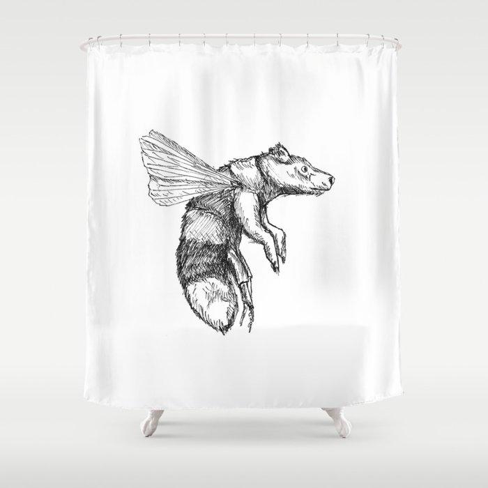Bumblebear Shower Curtain