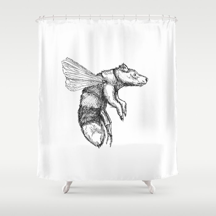 Bumblebear Shower Curtain