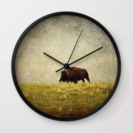 Lone Buffalo Wall Clock