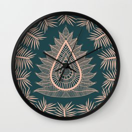 Leaf Lotus Wall Clock