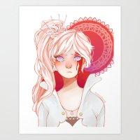 roosterteeth Art Prints featuring Weiss Schnee by ★ thiefofstars ★
