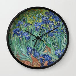 Irises by Vincent van Gogh Wall Clock