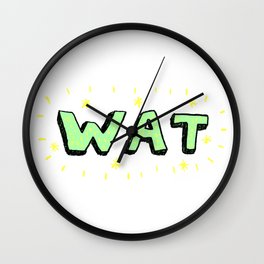 WAT Wall Clock