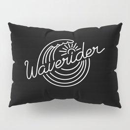 Waverider - white on black Pillow Sham