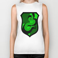 slytherin Biker Tanks featuring Slytherin Crest by Electric Unicorn