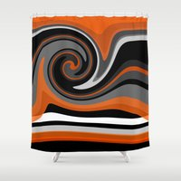 discount Shower Curtains featuring Heat wave by R Jordan