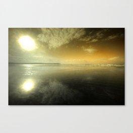 Sun over Woolacombe Beach  Canvas Print