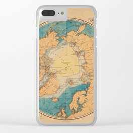 Map Of The Arctic 1860 Clear iPhone Case