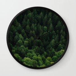 Swiss forest Wall Clock