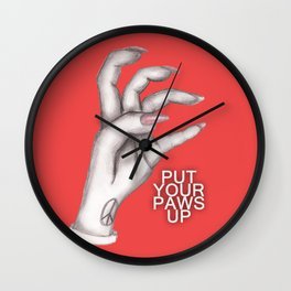 Put Your Paws Up - LG Wall Clock