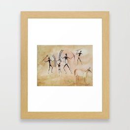 Cave art / Cave painting Framed Art Print