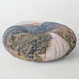 Road to the Mountains Floor Pillow