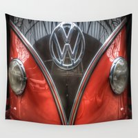 vw Wall Tapestries featuring VW Camper by Cozmic Photos