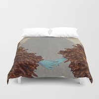 community Duvet Covers featuring Community by Rhea Ewing