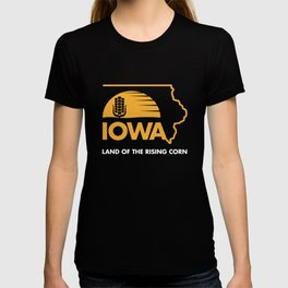 Iowa: Land of the Rising Corn - Black and Gold Edition T-shirt