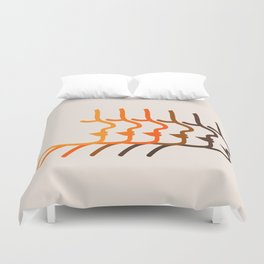 Golden Silhouettes Duvet Cover