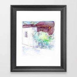 By the Walled Garden Framed Art Print