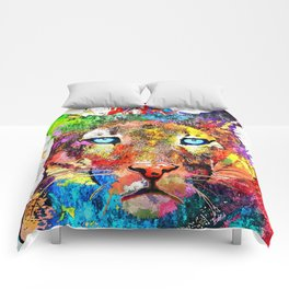 Puma Watercolor Grunge Comforters