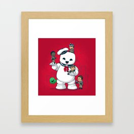 Puft Buddies Framed Art Print