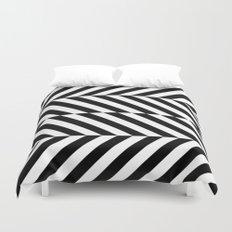 Black and White Op Art Design Duvet Cover