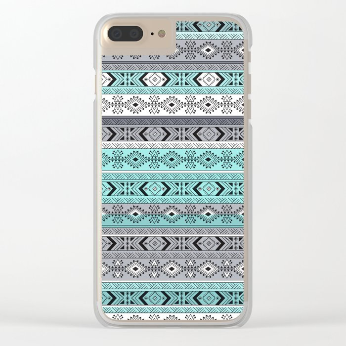 Indian Pattern I Clear iPhone Case
