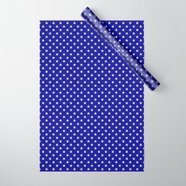 Blue and White Stars Wrapping Paper
