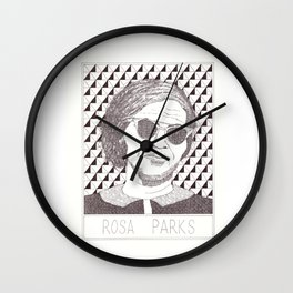 Rosa Parks Portait Wall Clock