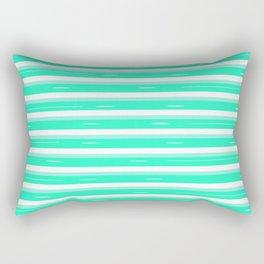 Mint stripes Rectangular Pillow