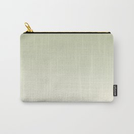 Pratt and Lambert Melon Green 18-28 and Dover White 33-6 Ombre Gradient Blend Carry-All Pouch