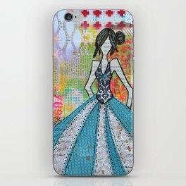 Blue Glamour iPhone Skin