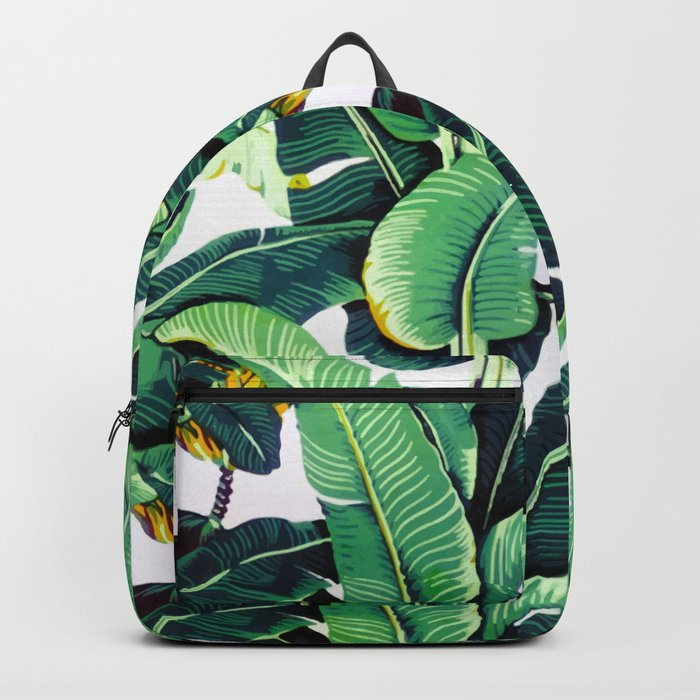 Tropical Banana leaves pattern Rucksack