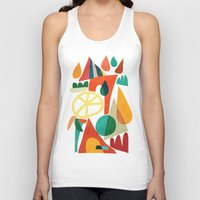 house Tank Tops featuring Summer Fun House by Picomodi