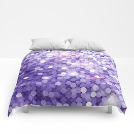 Ultra Violet Purple Glitter Comforters