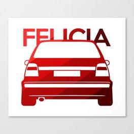 Skoda Felicia - classic red - Canvas Print