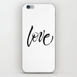 Love. Dry brush lettering. St.Valentine's Day message. Modern expressive calligraphy iPhone Skin
