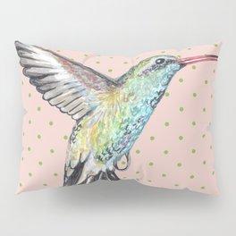 Hummingbird and polka dots Pillow Sham