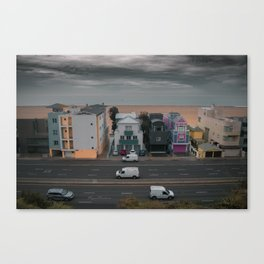 Pacific Coast Hwy veiw from santa monica Canvas Print